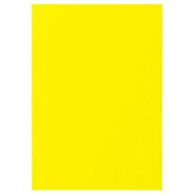 (まとめ) TANOSEE 色画用紙 四つ切 レモン 1パック(10枚) 【×15セット】