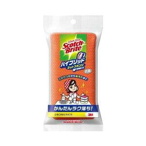 (まとめ)3M スコッチ・ブライトハイブリッドネットスポンジ オレンジ HBNT-75E 1個【×50セット】