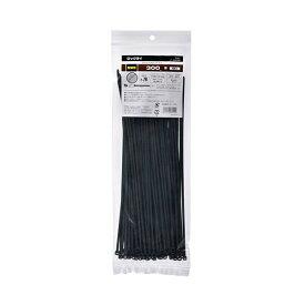 (まとめ) オーム電機 耐候性ロックタイ 300mm 黒 LT-300W100BK 1袋(100本) 【×10セット】