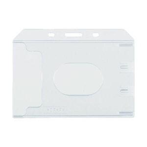 (まとめ) TRUSCO ハード名札ケース名刺サイズ TNH-47 1袋(10枚) 【×10セット】〔沖縄離島発送不可〕