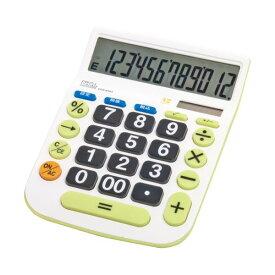 (まとめ)ナカバヤシ 電卓デスクトップ大型キータイプ L 12桁 ECD-8503G 1台【×5セット】
