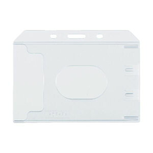 (まとめ) TRUSCO ハード名札ケース名刺サイズ TNH-47 1袋(10枚) 【×5セット】〔沖縄離島発送不可〕