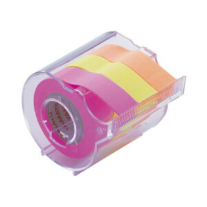 (まとめ) ヤマト メモック ロールテープ カッター付 15mm幅 オレンジ&レモン&ローズ RK-15CH-C 1個 【×30セット】