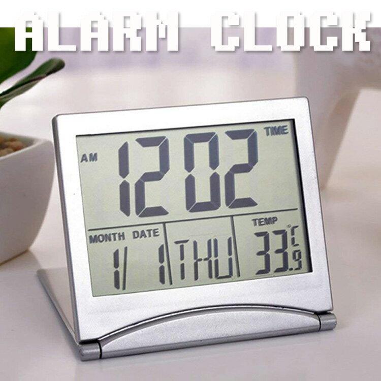 目覚まし時計 起きれる デジタル おしゃれ 大文字 大音量 めざまし時計 アラーム付き温度計 折りたたみ式 旅行 卓上 子供