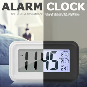 目覚まし時計 デジタル 卓上めざまし時計 起きれる 子供 大音量 大画面 夜間バックライト自動点灯 温度計 アラーム