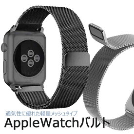 AppleWatch 交換バンド ステンレス 軽量モデル メッシュベルト アップルウォッチバンドアップルウォッチミラネーゼループ ステンレスバンド おしゃれ 軽い