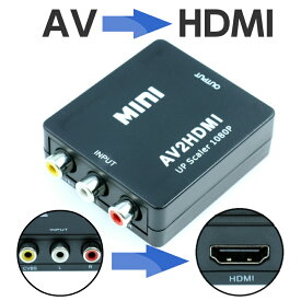 【メール便 送料無料】AV to HDMI 変換アダプター コンバーター 変換アダプタ アナログ 入力 HDMI 出力 1080p 対応 USB 電源 AV2HDMI RCA コンポジット 映像 音声 変換