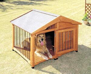 【送料無料】【犬小屋 大型犬用】サークル犬舎 CL-1400【犬小屋 大型犬用 アイリスオーヤマ ペット 屋外ハウス ハウス サークル 天然木製】