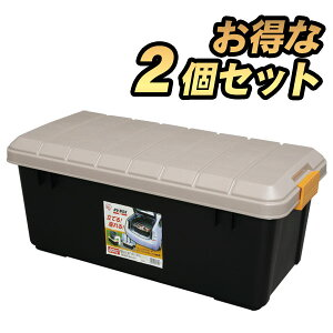 コンテナボックス 蓋付き 2個セットおしゃれ 収納ボックス RVBOX 800 アイリスオーヤマ プラスチック製 屋外収納 収納ケース 工具収納 工具箱 頑丈 釣り 海 レジャー アウトドア キャンプ 丸洗