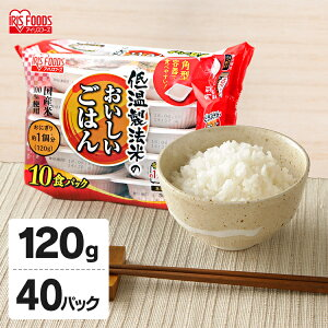 低温製法米のおいしいごはん 120g×40食パック パック米 パックご飯 パックごはん レトルトごはん ご飯 国産米 アイリスフーズ