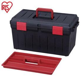 ツールケース600 ダークグレー レッド ハードケース バックルボックス RVBOX RVボックス コンテナボックス ツールボックス ガーデニング カートランク 収納ボックス 工具箱 工具ケース フタ付き 取っ手 アウトドア レジャー アイリスオーヤマ