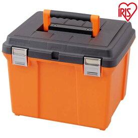 職人の車載ラック専用 ハードプロ 45 アイリスオーヤマ 工具ケース 収納箱 収納ケース 収納箱 工具箱 工具BOX BOX 踏み台 深型タイプ 保管 耐荷重300kg インナートレー付き シンプル オレンジ/ブラック