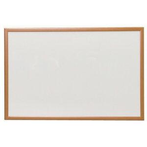 ウッドホワイトボード NWM-69 幅90×高さ60cm 送料無料 アイリスオーヤマ 白板 無地 マグネット対応 磁石 壁掛け 家庭用 ミニサイズ 子供 木枠 ウッド 木目 黒マーカー付き 900×600 90×60