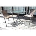 ラタン調ガーデン&テーブルセット tan-723送料無料 ガーデンテーブル ガーデンファニチャ セット テーブル チェア 【…