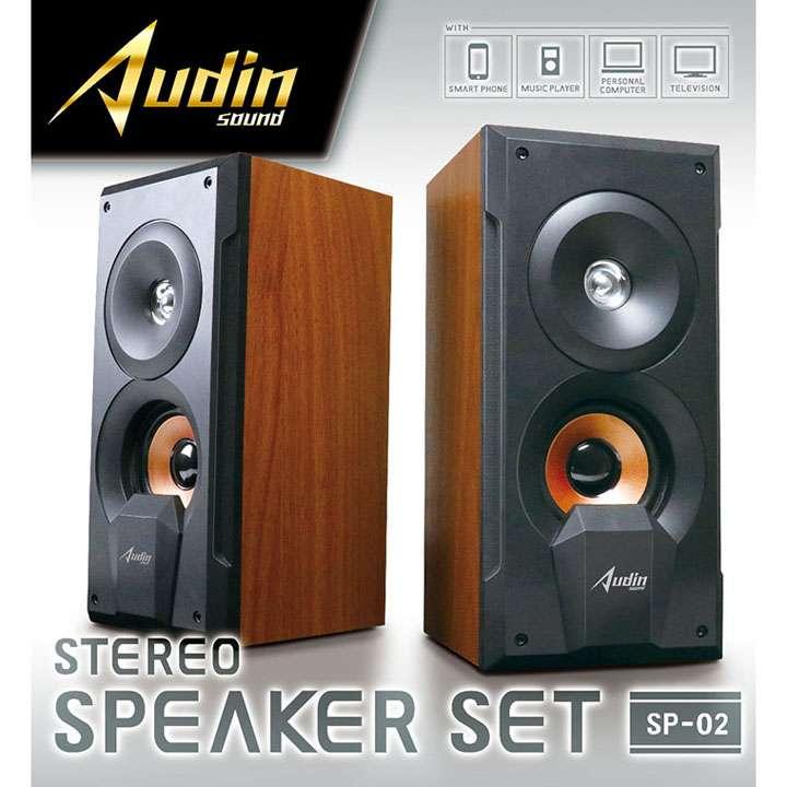 Audin sound ステレオスピーカーセットSP02 KK-00439スピーカー ステレオ USB電源 オーディオ ピーナッツクラブ 【D】