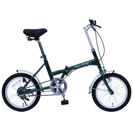 【10%OFF】Classic Mimugo FDB16G 16インチ折畳自転車 グリーン MG-CM16G送料無料 自転車 移動 クラシック 折り畳み 緑 コンパクト 通勤 通学 お出かけ ミムゴ 【TD】 【代引不可】