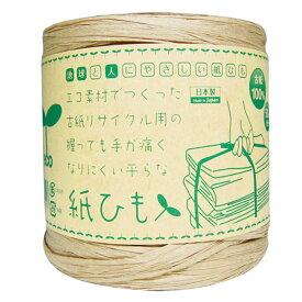 手が痛くなりにくい平らな紙ひも 50m・2個入 1070086資源ごみ ヒモ ゴミ処理 梱包資材 資材 ロープ ひも 紐 エコ ごみすて アイメディア 【D】