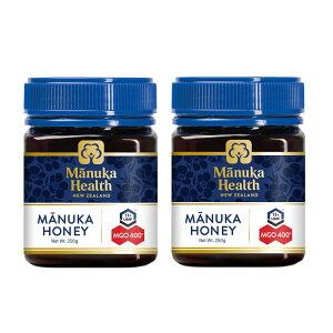 ★ポイント5倍★【2個】マヌカヘルス マヌカハニー MGO400+/UMF13+ 250g×2 送料無料 はちみつ マヌカ manuka 正規輸入 富永貿易 のど 抗菌作用 ウイルス対策 蜂蜜 ハチミツ MANUKA HEALTH NEW ZEALAND 【