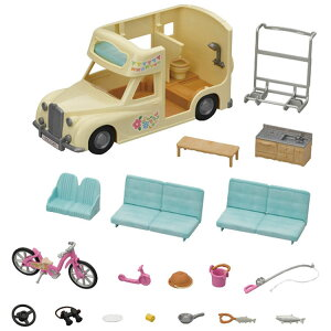 【24時間ポイント5倍】シルバニアファミリー みんなでおとまりキャンピングカー コ-63送料無料 シルバニアファミリー セット のりもの 家具 小物 おもちゃ 子供 エポック社 【TC】