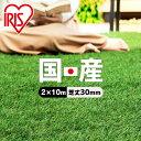 ★ポイント5倍★レビュー記載でプレゼント☆人工芝 ロール 2m×10m【20平米】 芝丈30mm IP-30210 国産 人工芝 ペット …