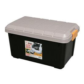 コンテナボックス 蓋付きおしゃれ 収納ボックス RVBOX 600 アイリスオーヤマ プラスチック製 屋外収納 収納ケース 工具収納 工具ケース 工具箱 頑丈 釣り 海 レジャー アウトドア キャンプ 丸洗い可能 洗える ベランダ イス フタ付 収納 RVボックス カーキ ブラック