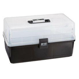マイキット40 ブラック グリーン 送料無料 工具箱 工具ケース 工具入れ ハードケース 収納ボックス 小物 裁縫箱 アイリスオーヤマ アイリス マイキット 40一人暮らし