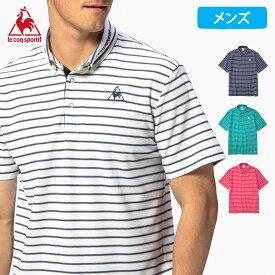 ルコック 半袖 ポロシャツ メンズ 2020 春夏 NEW 新作 襟付き 半袖シャツ ポロ クーリスト ボーダー QMMPJA48