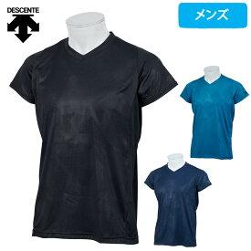 デサント Tシャツ メンズ vネック 半袖 カットオフ ドライ 速乾 吸汗 ドライトランスファー DMMMJA58