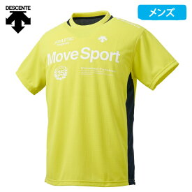 デサント Move Sport メンズ 半袖 Tシャツ ドライ 吸汗 速乾 グリッドソフトニット DMMNJA51
