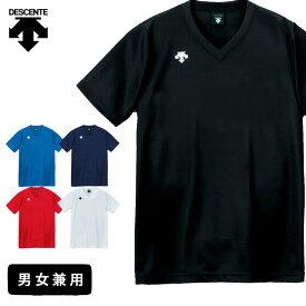 デサント バレーボール 練習着 半袖 シャツ 男女兼用 メンズ レディース ジュニア Vネック MT2 DSS-4321