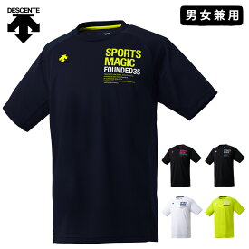 デサント バレーボール 練習着 半袖 シャツ 男女兼用 メンズ レディース DVUNJA53