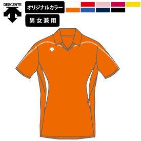 デサント バレーボール ユニフォーム 衿付き 半袖 シャツ メンズ レディース ジュニア / オリジナル オーダー カラー 練習着 OVL-4041