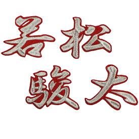 ■送料無料■若松駿太 ネーム (行銀/赤) 刺繍 ワッペン ■中日ドラゴンズ■応援■ユニフォーム■