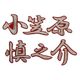 ■送料無料■小笠原慎之介 ネーム (行銀/赤) 刺繍 ワッペン ■中日ドラゴンズ■応援■ユニフォーム■