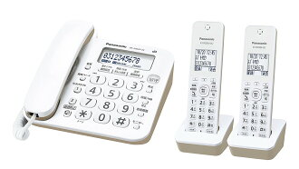 ■Panasonic 파나소닉 VE-GZ20DW-W디지털 무선 전화기자기 2대 부착 상당품