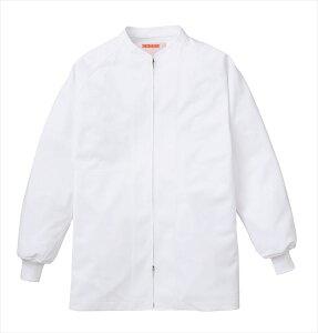 食品工場 白衣 衛生服 作業着 作業ジャンパー HACCP支援 男女兼用 長袖 食品衛生管理システム KAZEN FOOD FACTORY 404-60
