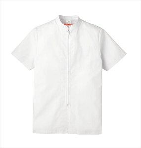 食品工場 白衣 衛生服 作業着 作業ジャンパー レディース 半袖 食品衛生管理システム KAZEN FOOD FACTORY 447-30
