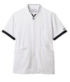 ジャケット 半袖 メンズ 白/ネイビー 医療 看護 介護 白衣 クリニック 病院 メディカル 住商モンブラン MONBLANC PP202-19