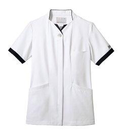 ナースジャケット 半袖 レディス 白/ネイビー 医療 看護 介護 白衣 クリニック 病院 メディカル 住商モンブラン MONBLANC PP302-19