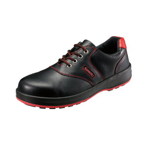 安全靴 JIS S種 普通作業用 SL11-R 黒/赤 作業靴 シモン