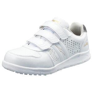 プロスニーカー JSAA A種 認定品 ワークグローブ1双プレゼント NS618白静電 軽作業用 HB-80 作業靴 手袋 シモン