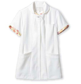 【医療白衣】ナースジャケット(半袖) LW801 ローラアシュレイ 住商モンブラン
