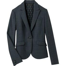 事務服 上下セット ジャケット S-24801 Aラインスカート S-16541 ブラインドチェック パトリックコックス セロリー