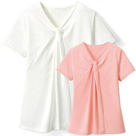 サービス ・ショップスタッフ 半袖 ツイストVネックTシャツ WP323 ドライミィR カウンタービズ