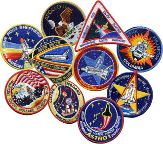 NASA emblem space shuttle Apollo crew patch ten pieces set