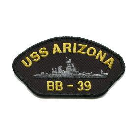 輸入ワッペン〔380-USS ARIZONA BB-39〕【DM便選択可】【アイロン接着】【楽ギフ_包装】