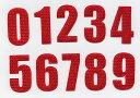 数字ワッペン[クロス][5cmサイズ]ナンバーわっぺん、アップリケ、背番号・名前入れカスタマイズに最適です!【DM便選択可】【楽ギフ_包装】