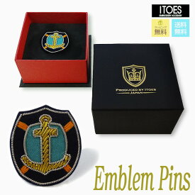 ITOES(イトエス)Emblem Pins Anchor(エンブレム ピンズ イカリ) ギフト/父の日/男性への贈り物/メンズアクセサリー/プレゼント/お祝い/新生活/結婚式/夫/彼氏/クリスマス/【ラッピング無料】【送料無料】