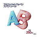アルファベットワッペン[日本製スパンコール][5cmサイズ]英文字わっぺん、アップリケ、イニシャル名前入れに【DM便選…