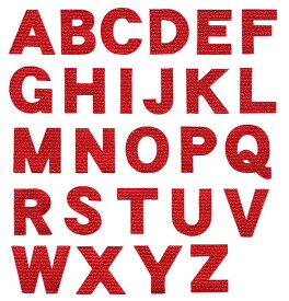 アルファベットワッペン[クロス][3cmサイズ]英文字わっぺん、アップリケ、イニシャル名前入れに【DM便選択可】【アイロン接着】【楽ギフ_包装】